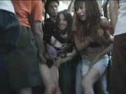 2 Hot Sisters seduced in a crowded Bus Part 1
