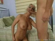 Diamond Foxxx gets to fuck his big Cock - Mommy Got Boobs