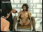 Two beautiful naughty slaves sitting in a jail got there pus