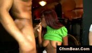 Cfnm stripper titfucks and sucked by babes at cfnm party