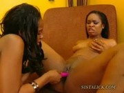 Hot ebony lez toy sex