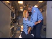 Pretty EMT fucking in the back of an ambulance