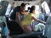 Love couple sex with suck fuck and explosion in the car