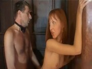 Redhead seduces Professor to pass exam