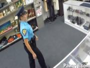Police Babe Fucked for Money at a PawnShop