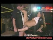 Sexy officer Temptress fucking with her partner