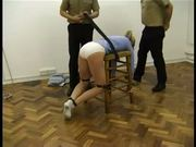 Police caning prisoner