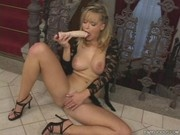 Renata Daninsky aka Peach Fruity With My Dildo (Babelicious, seethru, dildo, masturbation, black den