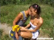 Outdoor Sex Encounter With Nerdy Brunette Stepsis