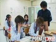 Girl school English lesson