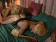 Latex Lesbians - Busty domme, flat sub