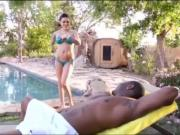Karmen Karma fucked by big black cock in the ass