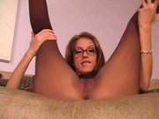 Jena haze in pantyhose jerk off instruction