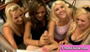 Cfnm femdom cfnm group handjob