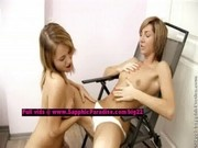 Nicol and Gwena from sapphic erotica, lesbian teen girls teasing