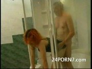 Curious Teen Watches Grampa Shower