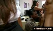Office girls suck cfnm stripper at cfnm office party