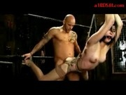 Girl Hanging In Bondage Whipped Getting Her Pussy Fucked In The Dungeon