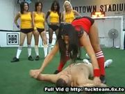 Group oral on soccer field