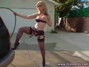 Nina Hartley Returns The Favor To Black Dude