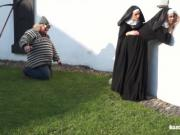Catholic nuns and the monster