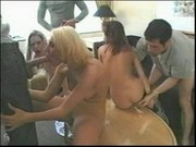AWESOME gangbang with finishing