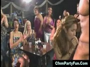 Cfnm babes getting a creamy cock surprise