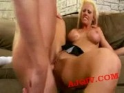 Tanya James Gets banged on the couch 