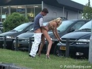 Public - public sex at a car dealership