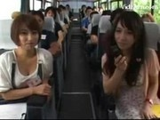 Asian Girls Sucking Guys Cocks While Travelling Getting Tits Rubbed On The Bus