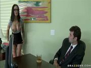 Sweet babe gets rid of her office suit