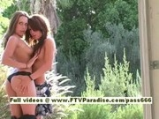 Risi and Renna, from ftv girls, two superb babes posing outside