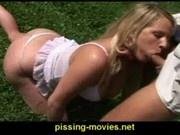 peeing blonde 3