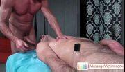 Extreme deepthroat while doing massage by massagevictim