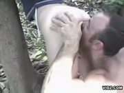 Horny college girl gets fucked in the forest
