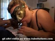 Blonde Italian Milf 3some