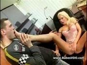 Blonde gets her ass stuffed