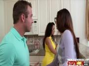 Beautiful Ava Taylor have threesome with her boyfriend and her stepmom