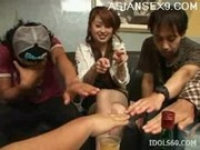 Hikaru Houzuki Asian Slut Gets Drunk And Masturbates Shaved Pussy At A Party