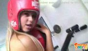Shameless teen boxer strips down during her hot and exciting