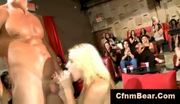 Cfnm babes go wild for cfnm stripper cock