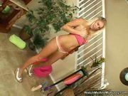 Allison pierce - horny vixen plays with her vibrator