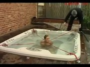 Bondaged Girl Pushed Under The Water Getting Locked To Jakuzzi