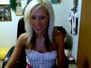 Hot girl teasing on webcam