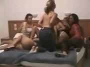 Drunk lesbian Cheerleaders Orgy Part 3