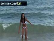 Kat young at bikini