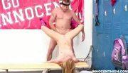 Blonde schoolgirl getting hardcore with her pe prof