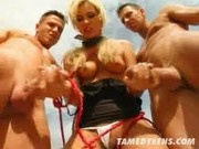 Tamed Denise gets double teamed - Tamed Teens