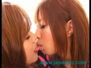 Large Breasted Japanese Lesbians Slowly Begin Their Sexual Relationship
