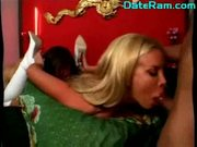 Sweet blonde mother got used as a fuck doll by her sonny mom